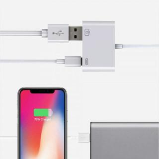 Adaptor OTG Lightning la USB Alb