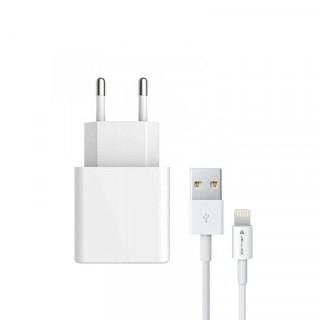 Adaptor retea+ cablu lightning Apple iPhone, Alb