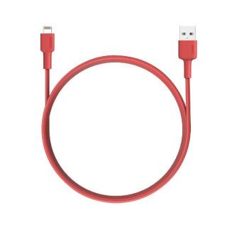 Cablu Date Si Incarcare Lightning iPhone 5 6 7 8 X XS 11 11 Pro Textil Rosu
