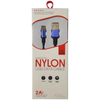 Cablu Date Si Incarcare Micro-usb Universal textil Albastru