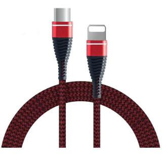 Cablu de date USB C-lightning, Rosu