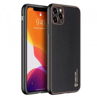 Carcasa telefon Dux Ducis iPhone 11 Pro TPU din piele ecologica Neagra