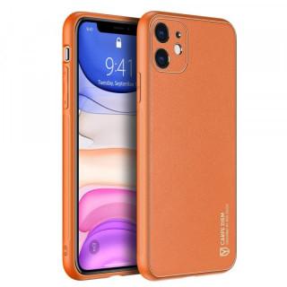 Carcasa telefon Dux Ducis iPhone 11 TPU din piele ecologica Maro