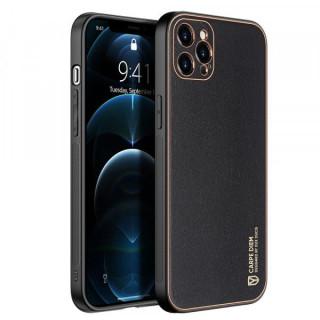 Carcasa telefon Dux Ducis iPhone 12 Pro TPU din piele ecologica Neagra