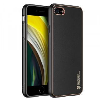 Carcasa telefon Dux Ducis iPhone 7 / 8 / SE 2020 TPU din piele ecologica Neagra