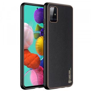 Carcasa telefon Dux Ducis Samsung Galaxy A51 TPU din piele ecologica Neagra