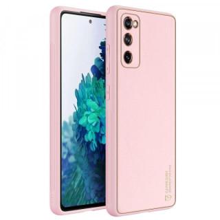 Carcasa telefon Dux Ducis Samsung Galaxy S20 FE TPU din piele ecologica Roz