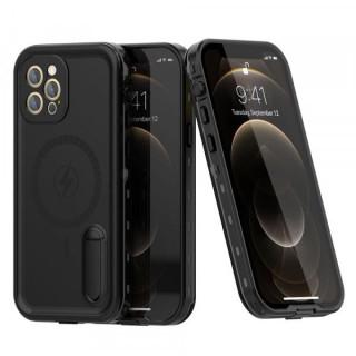 Carcasa telefon impermeabila REDPEPPER iPhone 12 Pro cu suport incarcare Magsafe Neagra