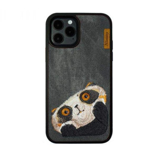 Carcasa telefon NIMMY iPhone 12 / 12 Pro TPU din textil Neagra