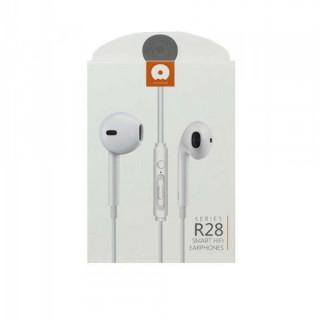 Casti Cu Microfon Si Cu Port Jack 3,5 mm Albe