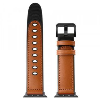 Curea Apple Watch Series 6 SE 5 4 44mm / Series 3 2 1 42mm Piele Ecologica Maro