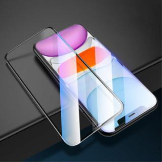 Folie de protectie USAMS Tempered Glass cu acoperire completa pentru iPhone XR / 11 Neagra