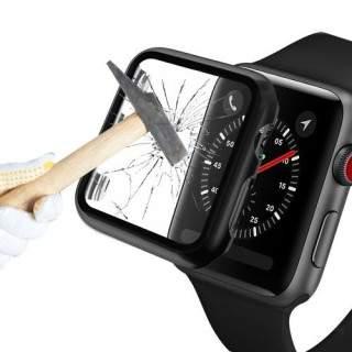 Folie Protectie Sticla Apple Watch Series 6 / SE / 5 / 4 44mm Acoperire Completa