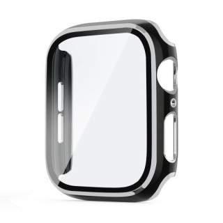 Folie Protectie Sticla Apple Watch Series 6 / SE / 5 / 4 44mm Acoperire Completa Argintie
