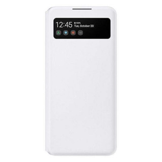 Husa de protectie Samsung S View Wallet Cover pentru A42 (5G), White