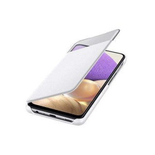 Husa de protectie Samsung Smart S View Wallet Cover pentru Galaxy A32 (5G), White