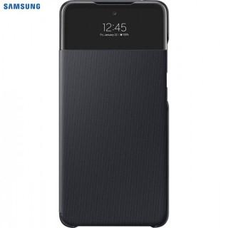 Husa de protectie Samsung Smart S View Wallet Cover pentru Galaxy A52, Black