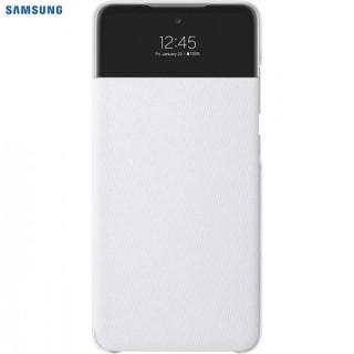 Husa de protectie Samsung Smart S View Wallet Cover pentru Galaxy A52, White