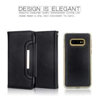 Husa Flip Samsung Galaxy S10e Cu Buzunar Pentru Carduri Neagra