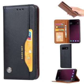 Husa Flip Samsung Galaxy S10e Cu Stand Si Buzunar Pentru Carduri Negru