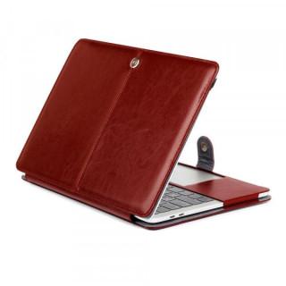 Husa Protectie Macbook Air 13,3 inch din piele ecologica Maro