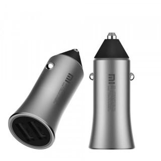 Incarcator auto Mi Car Pro Dual USB Fast Charge 2 x 2.4A fara cablu incarcare Argintiu