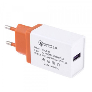 Incarcator Retea 3,5 A QC 3,0 Cu Mufa USB Portocaliu