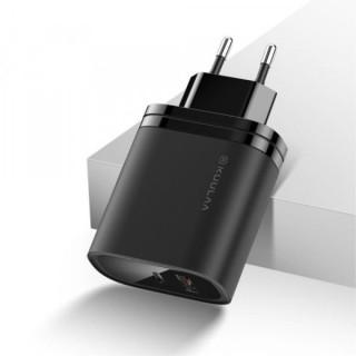 Incarcator Retea 36W QC 3,0 Cu Mufa USB Si USB Type C Negru
