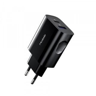 Incarcator retea MCDODO 20W cu port USB si USB Type C Negru
