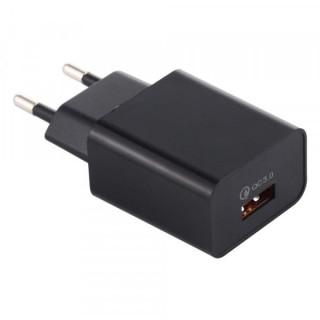 Incarcator Retea QC 3,0 Cu Port USB Negru