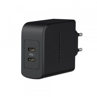 Incarcator retea RAMPOW 36W cu 2 porturi USB Type C Quick Charge 3,0 Negru
